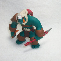 Dota2 Huskar Miniature Polymer Clay Figurine - Fimo Clay - Handsculpted Dota 2 Hero Sculpture - Collectible Dota Ceramic Figure
