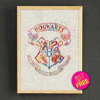 Hogwarts Quotes Watercolor Art Print Harry Potter Poster House Wear Wall Decor Gift Linen Print - Harry Potter - Buy 2 Get 1 FREE - 64s2g
