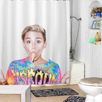 miley cyrus ice cream face shower curtains adorabel bathroom and heppy shower.