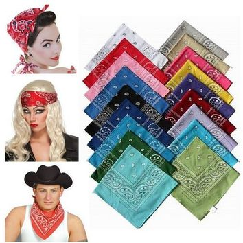 BANDANA Paisley COTTON Head Wrap Headband Durag Bandanna Summer Biker Scarf Mask New