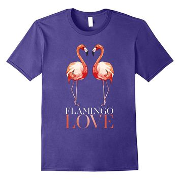 flamingo love Humor bird beach miami T-shirt