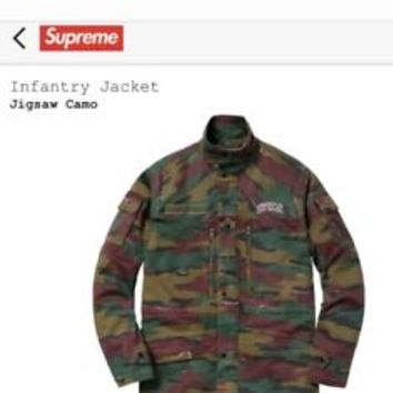 Authentic Supreme Infantry Jacket Jigsaw Camo Medium M SS18 Week 1 New