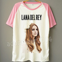 Lana Del Rey T-Shirt American Pop Rock T-Shirt Short Sleeve T-Shirt Short Baseball Shirt Jersey Tee Unisex T-Shirt Women T-Shirt Men T-Shirt