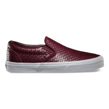 Vans Emboss Check Slip-On (port royale/leather)