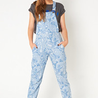 MARKET HQ   Printed Chambray Overalls
