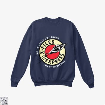 X Files Express, Lord Of The Rings Crew Neck Sweatshirt