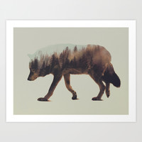 Norwegian Woods: The Wolf Art Print by Andreas Lie