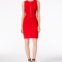 Calvin Klein Zip-Front Sheath Dress - Calvin Klein Dresses - Women - Macy's