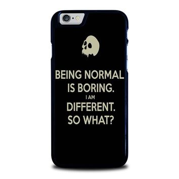 NORMAL IS BORING QUOTES iPhone 6 / 6S Case Cover