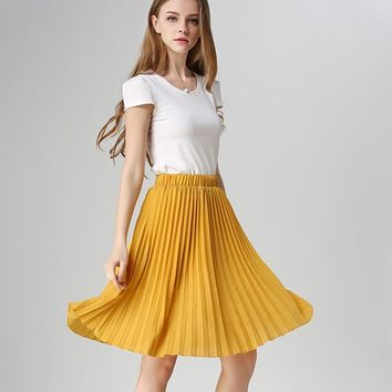*online exclusive* chiffon pleated skirt
