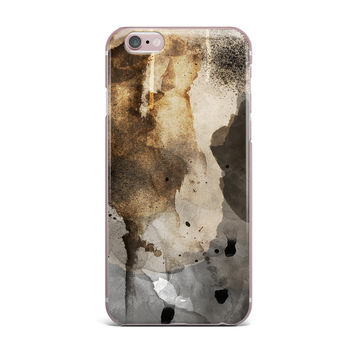 "Li Zamperini ""Today"" Beige Brown iPhone Case"