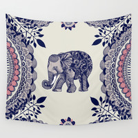 Elephant Pink Wall Tapestry by Rskinner1122