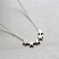 Stylish Shiny Jewelry New Arrival Gift Korean Silver 925 Matte Necklace [8080529927]