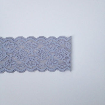 Grey Lace Headband