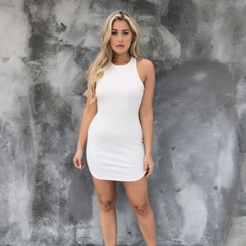 Full Control Bodycon Dress In Ivory