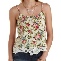 Crochet-Trim Swing Tank Top by Charlotte Russe
