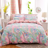UNIHOME  Bohemian Bedding Set Polyester Cotton Soft Bed Linen Duvet Cover Pillowcases Bed Sheet Sets Home Textile Coverlets