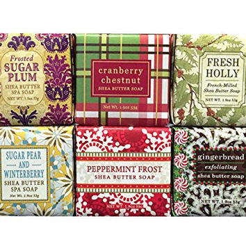 Christmas Holiday Winter Mini Soap Square Gift Set
