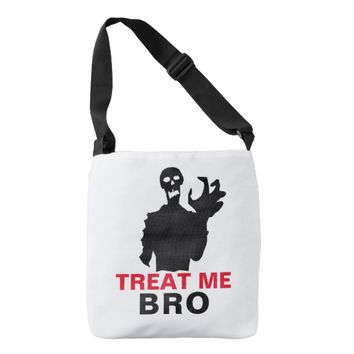 Zombie Treat Me Bro funny Halloween unique Crossbody Bag