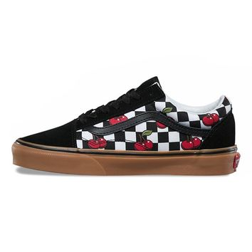Vans Original Old Skool Checkered Cherry Shoes