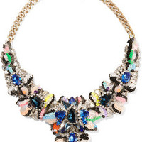 Shourouk Apolonia gold-plated, crystal and sequin necklace – 66% at THE OUTNET.COM