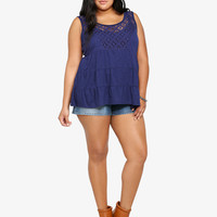 Crochet Front Tiered Babydoll