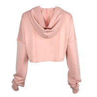 New Fashion Women Long Sleeve Casual Crop Sweatshirt Pullover Hoodies Tops Y06 SM6