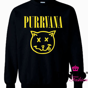 Nirvana Cat Purrvana Sweater sweatshirt