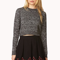 FOREVER 21 Folk Girl Skater Skirt Black/Burgundy