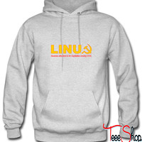 Linux because microsoft is for capitalists hoodie