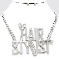 Adorn by Lulu- Hair Stylist Bling Necklace