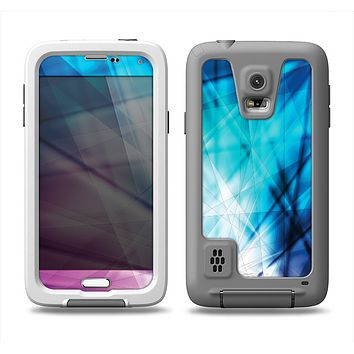 The Vibrant Blue and Pink HD Shards Samsung Galaxy S5 LifeProof Fre Case Skin Set