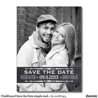 Chalkboard Save the Date simple wedding photo...