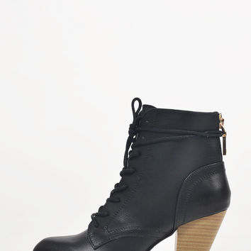 Stitched Laced Up Booties -10