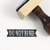 Stamp - Do not bend ribbon
