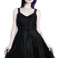 Black Sea Skater Dress [B]