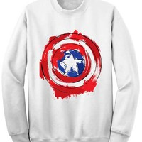 Unisex Crewneck Captain America Shield Sweatshirts