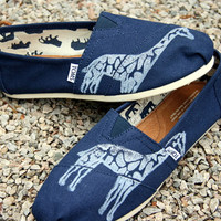 Giraffe Custom TOMS Shoes