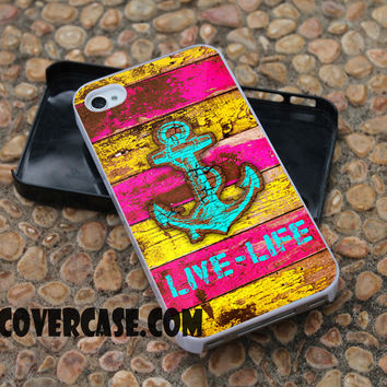 vintage colorful anchor marine case for iPhone 4/4S/5/5S/5C/6/6+ case,samsung S3/S4/S5 case,samsung note 3/4 Case
