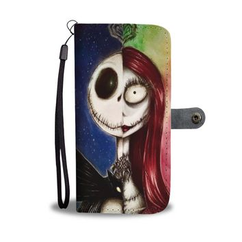 'Jack Skellington & Sally' Split Faces [The Nightmare Before Christmas] Wallet Phone Case