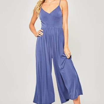 Blue Modal Strappy Jumpsuit