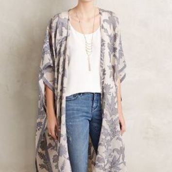 Anthophilous Kimono by Anthropologie in Blue Size: One Size Tops