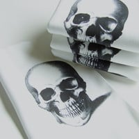 Skull Printed Cotton Hand Towel Napkins - Set of FOUR