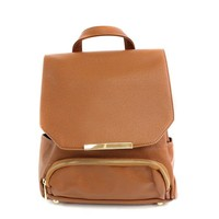 Bailey Camel Leather Backpack by Culture Riot on Bogatte.com