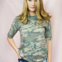 the camo boyfriend shirt