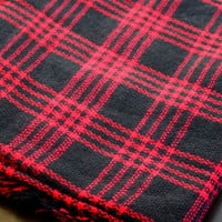 Blanket Scarf - Red and Black Checkered