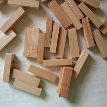 35+ rectangular wooden blocks . natural wood blocks . wedding blocks . craft supplies . rectangles