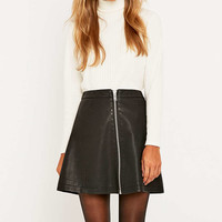 Urban Outfitters Vegan Leather A-Line Zip Skirt - Urban Outfitters