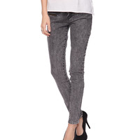 Acid Washed Moto Pants | FOREVER21 - 2011409554