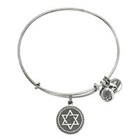 Alex and Ani Star Of David Charm Bangle - Russian Silver